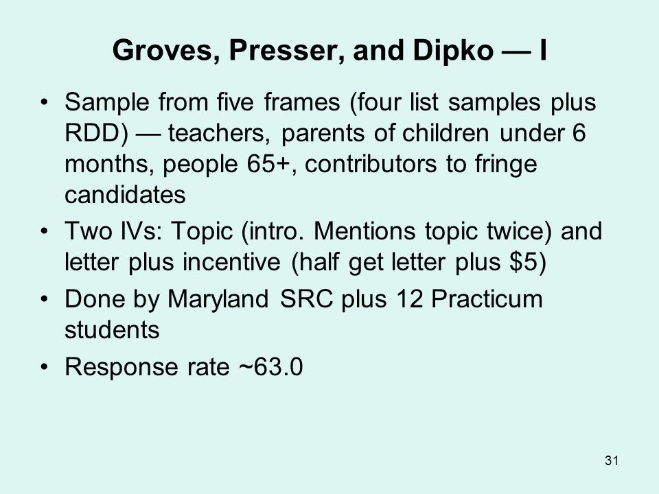 Groves, Presser, and Dipko — II