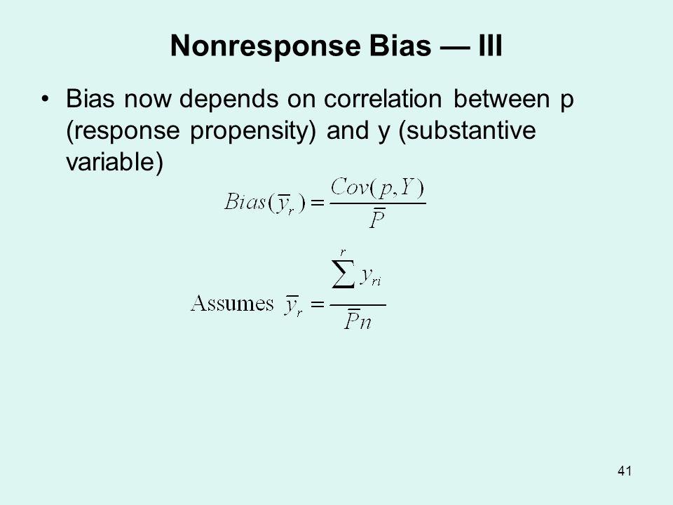Empirical Estimates of Bias