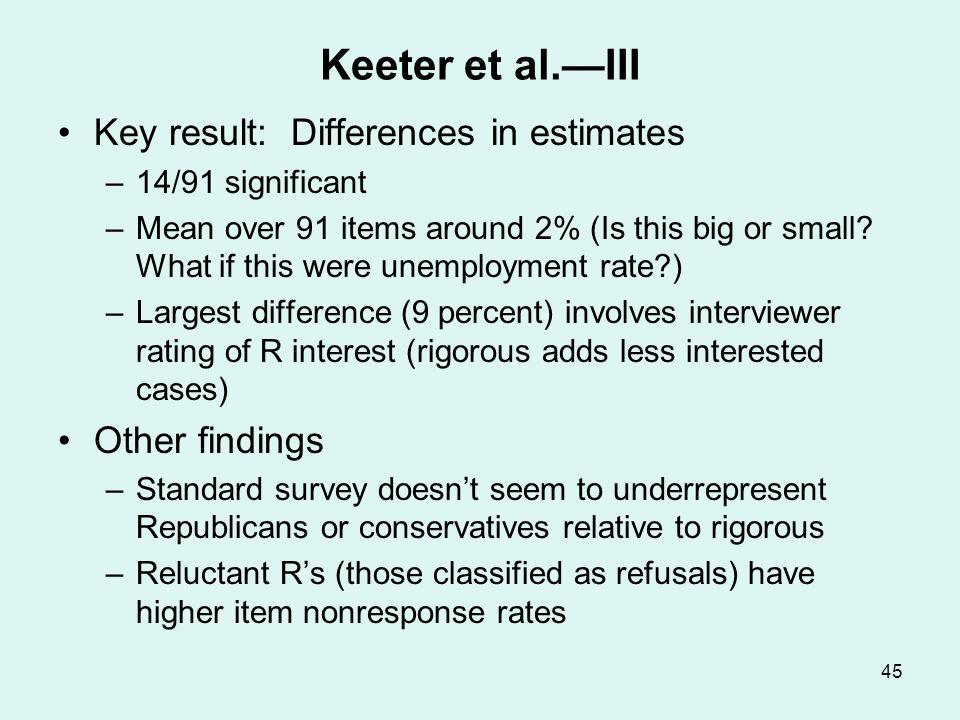 Merkle and Edelman — I Examine relation between within precinct error (relative to actual vote) and precinct response rate.