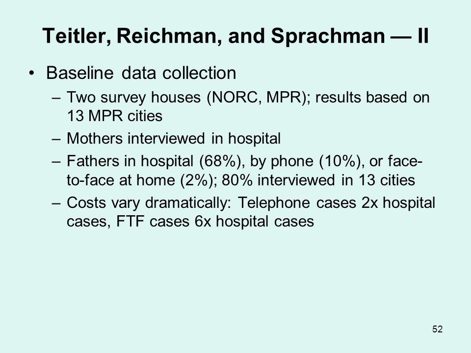 Teitler, Reichman, and Sprachman — III