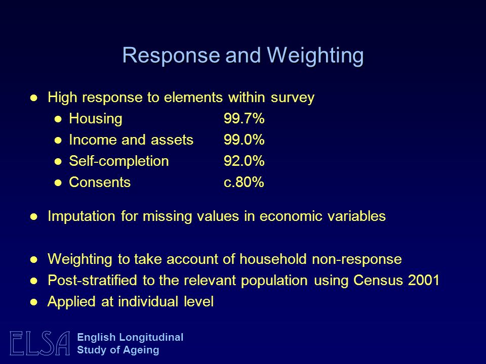 Response and Weighting