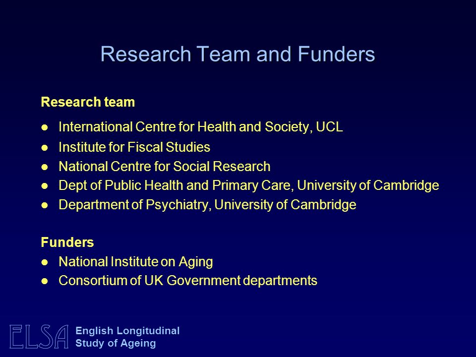 Research Team and Funders
