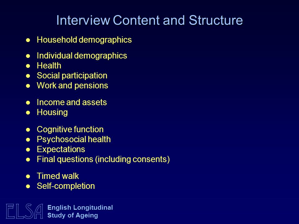 Interview Content and Structure