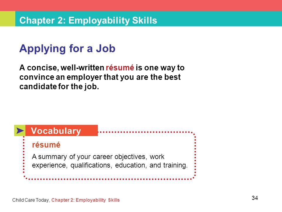 skills for applying for a job