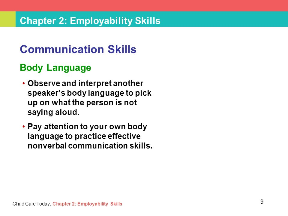 employability and communication Employability skills at level 1 of the career framework for health employability   skills in communication, mathematics and use of information technology (it.