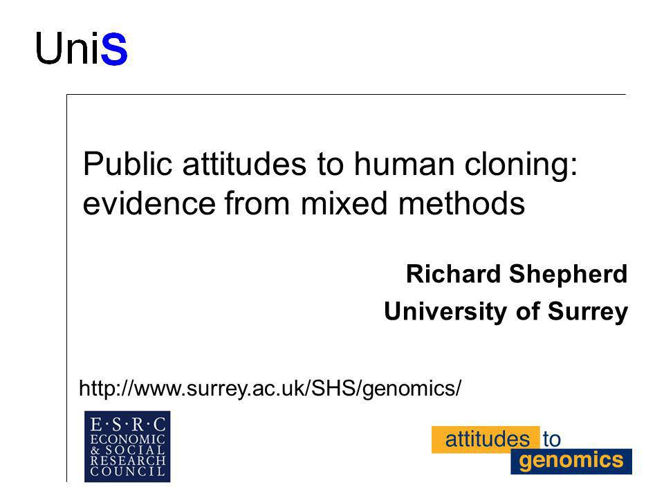 Public attitudes to human cloning: evidence from mixed methods