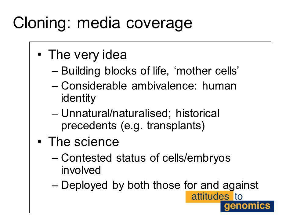 Cloning: media coverage