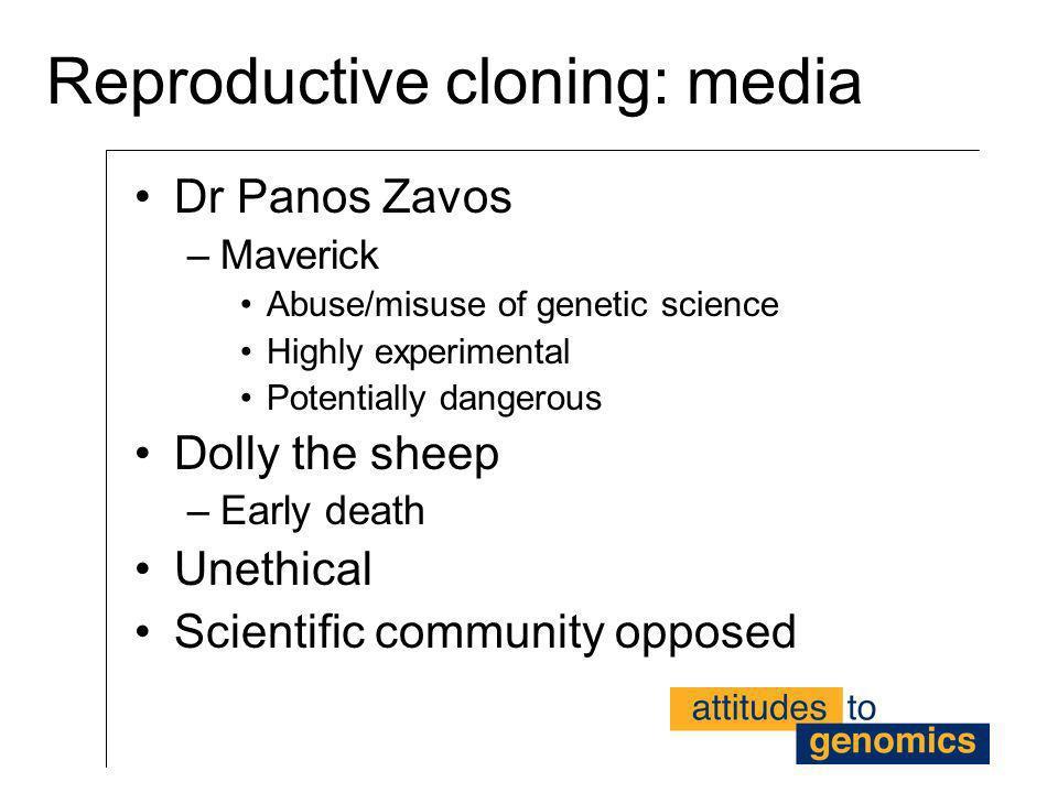 Reproductive cloning: media