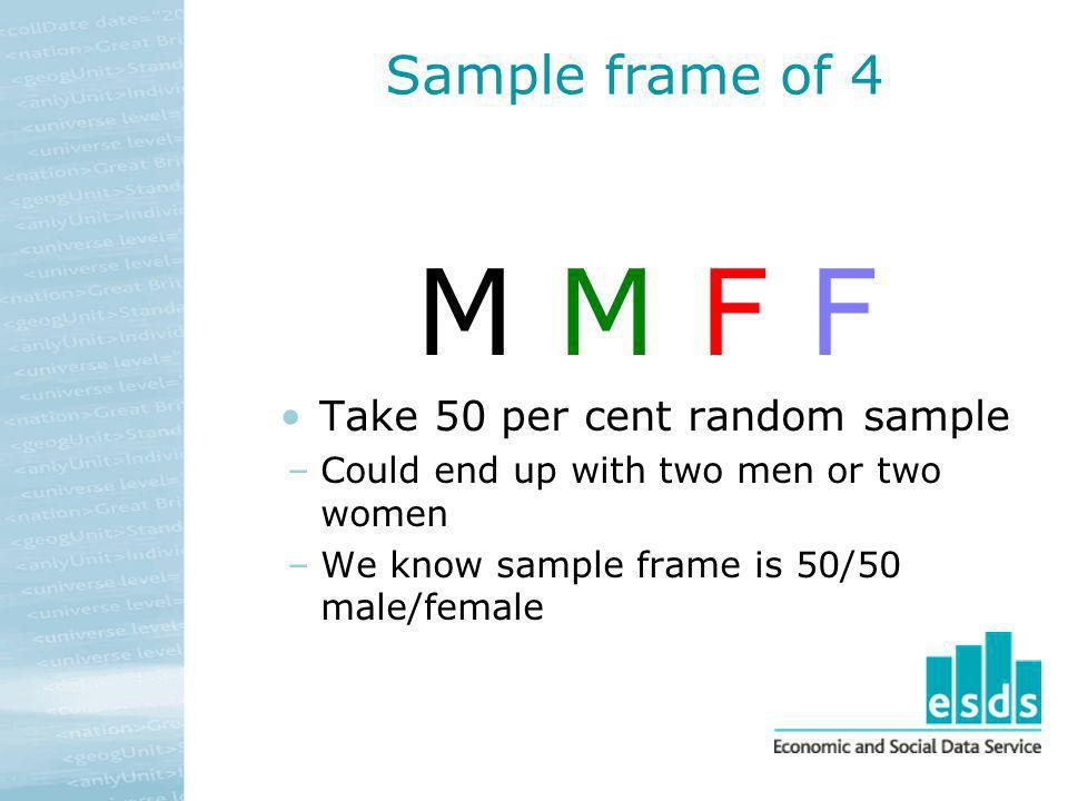 Take 50 per cent random sample