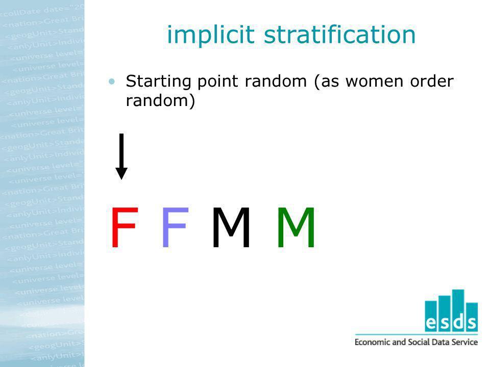 implicit stratification