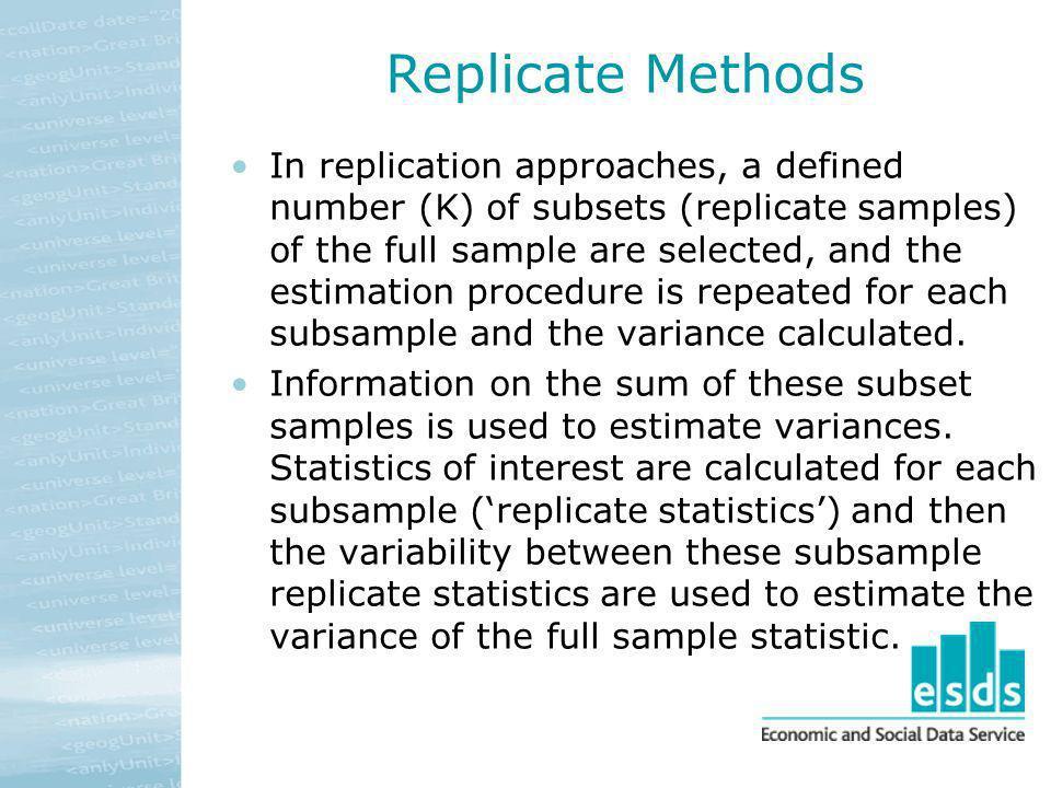 Replicate Methods