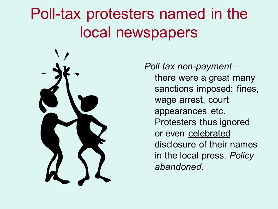 Poll-tax protesters named in the local newspapers
