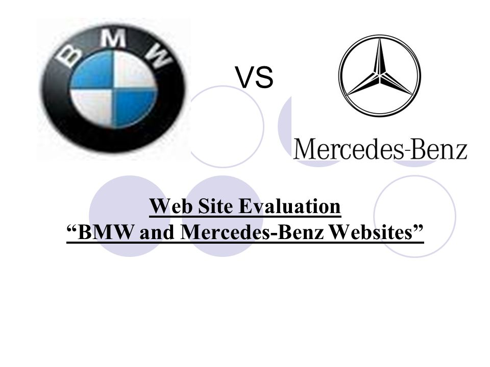 Exceptional Web Site Evaluation BMW And Mercedes Benz Websites
