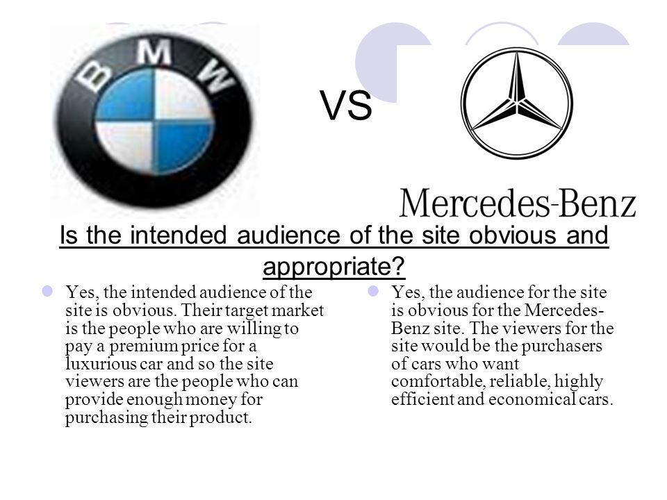 Web site evaluation bmw and mercedes benz websites ppt for Mercedes benz target market