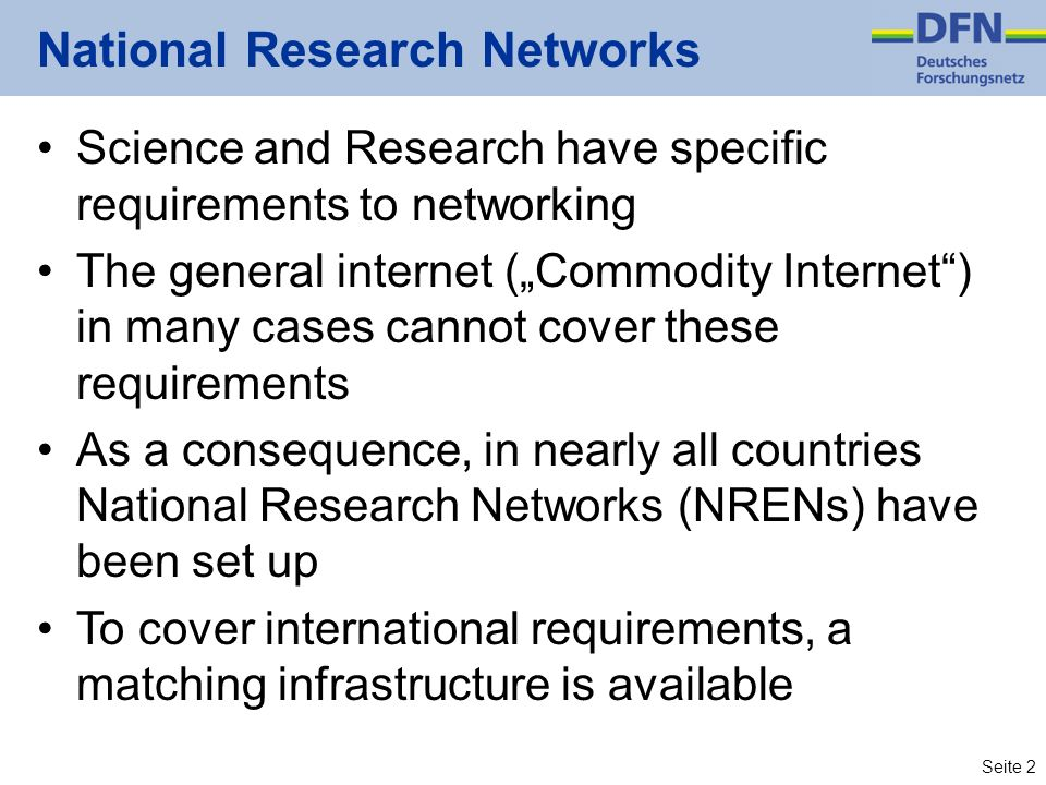 National Research Networks