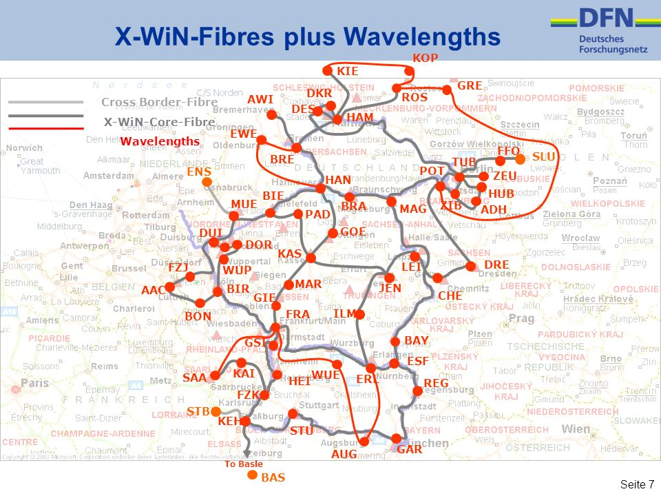 X-WiN-Fibres plus Wavelengths