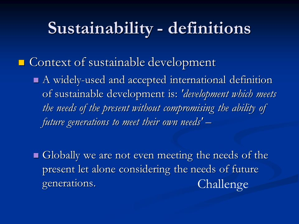 what is sustainable development definition pdf