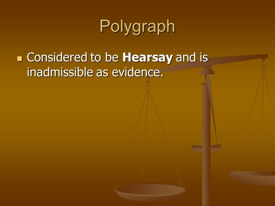 polygraph and scientific evidence A polygraph, popularly referred to as a lie detector, measures and records several physiological indices such as blood pressure, pulse, respiration, and skin conductivity while a person is asked and answers a series of questions the belief underpinning the use of the polygraph is that deceptive answers will produce physiological responses that can be differentiated from those associated with.