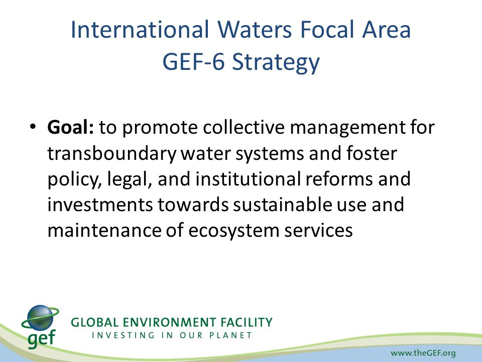 International Waters Focal Area GEF-6 Strategy