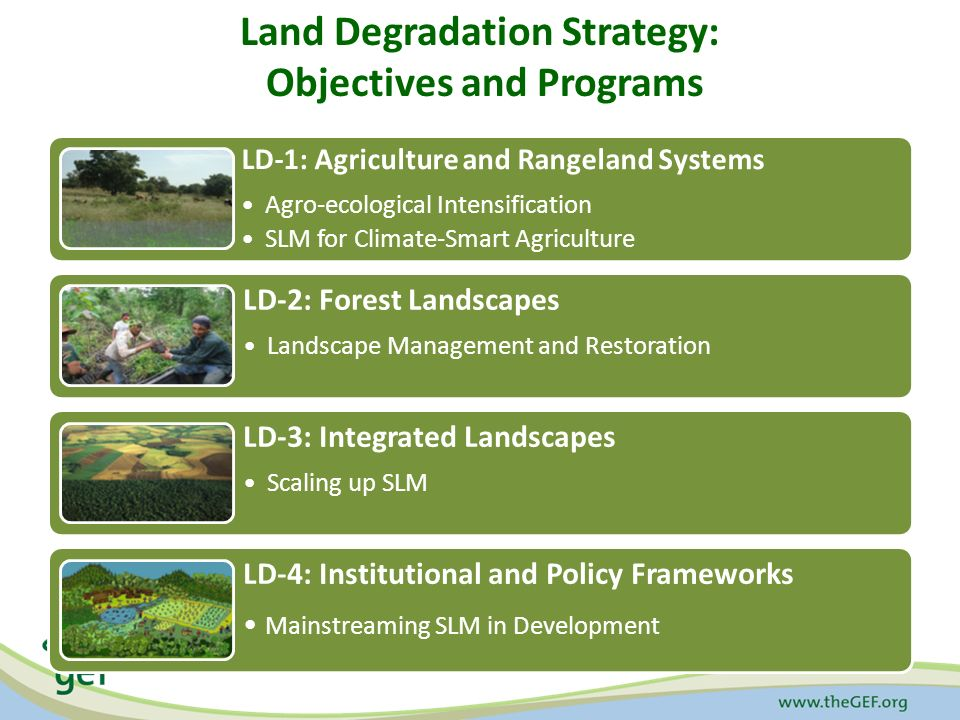 Land Degradation Strategy: Objectives and Programs