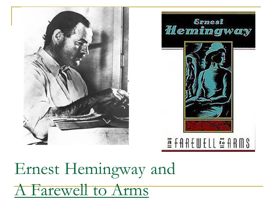 an overview of the book a farewell to arms by ernest hemingway Complete summary of ernest hemingway's a farewell to arms enotes plot summaries cover all the significant action of a farewell to arms.