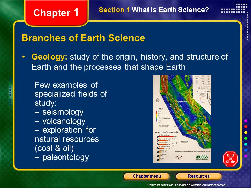 section 1 what is earth science section 2 science as a