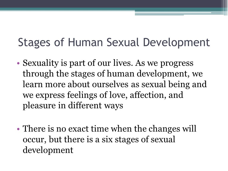human sexual development stages