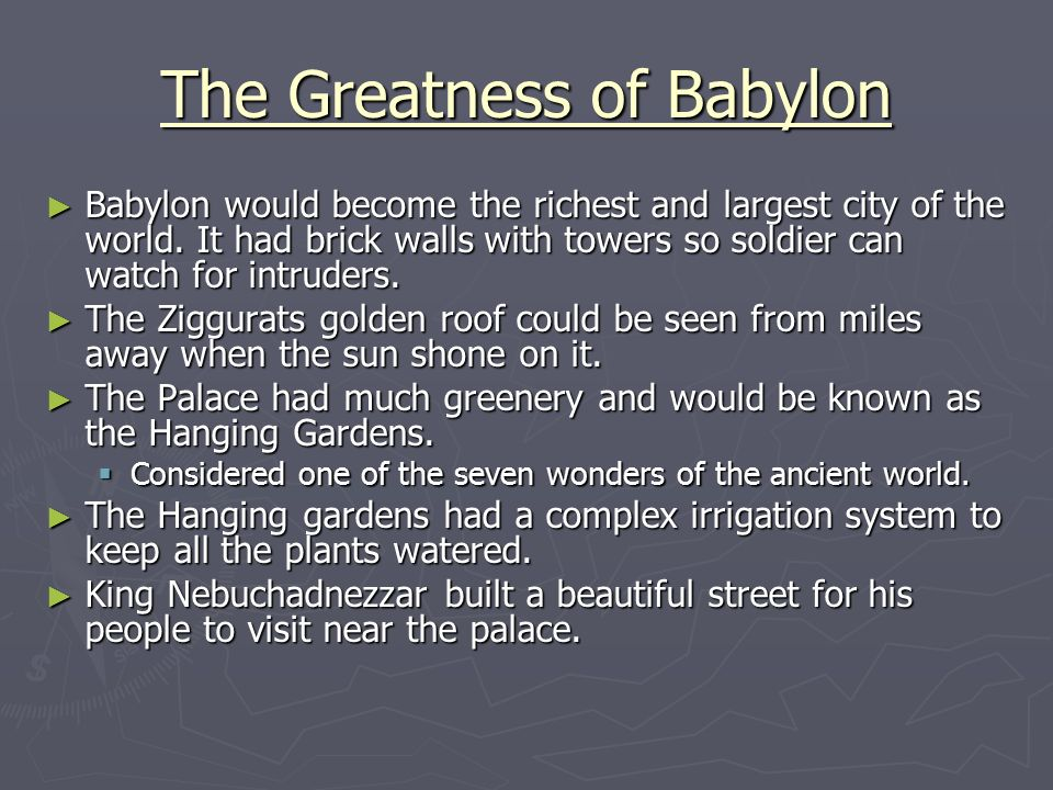 The Greatness of Babylon