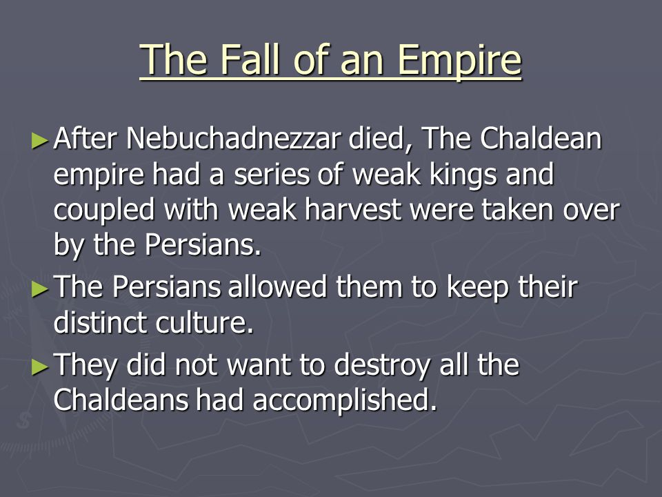 The Fall of an Empire