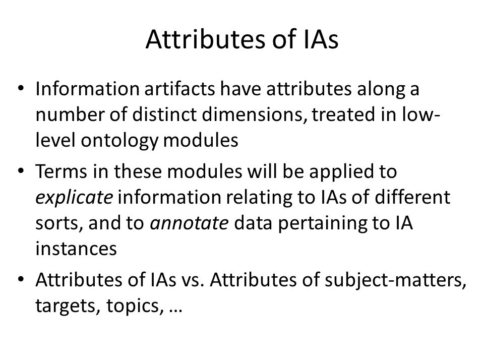 attributes of information