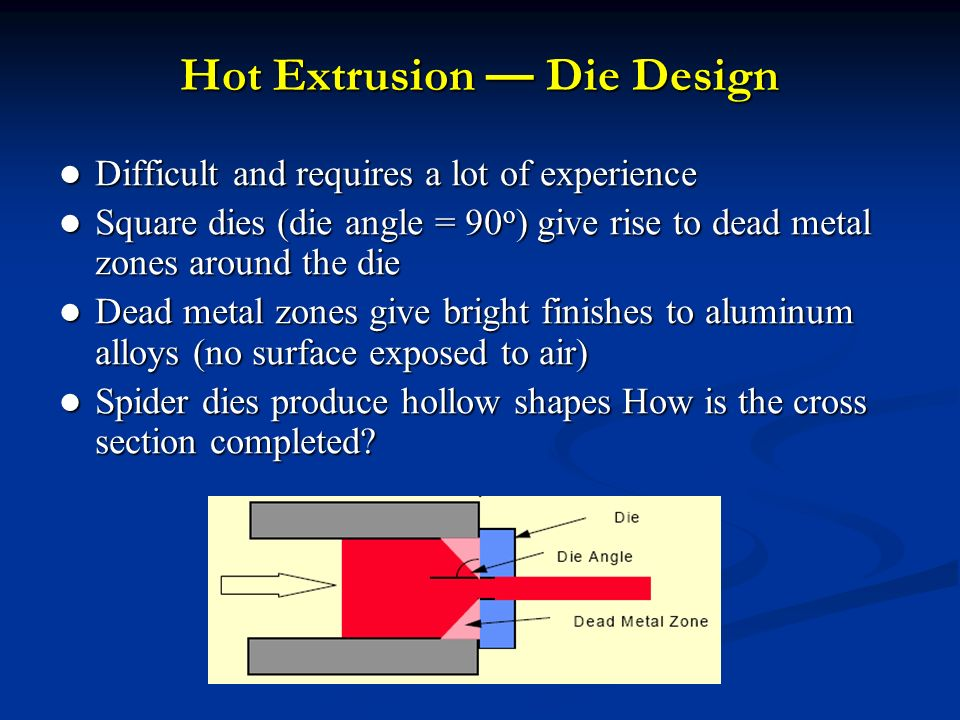 Lecture 15 Extrusion Die Design Ppt Video Online Download