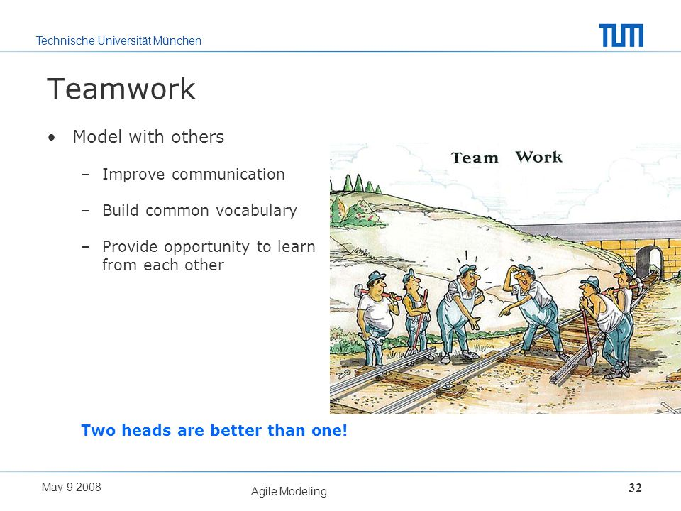 Teamwork Model with others Improve communication