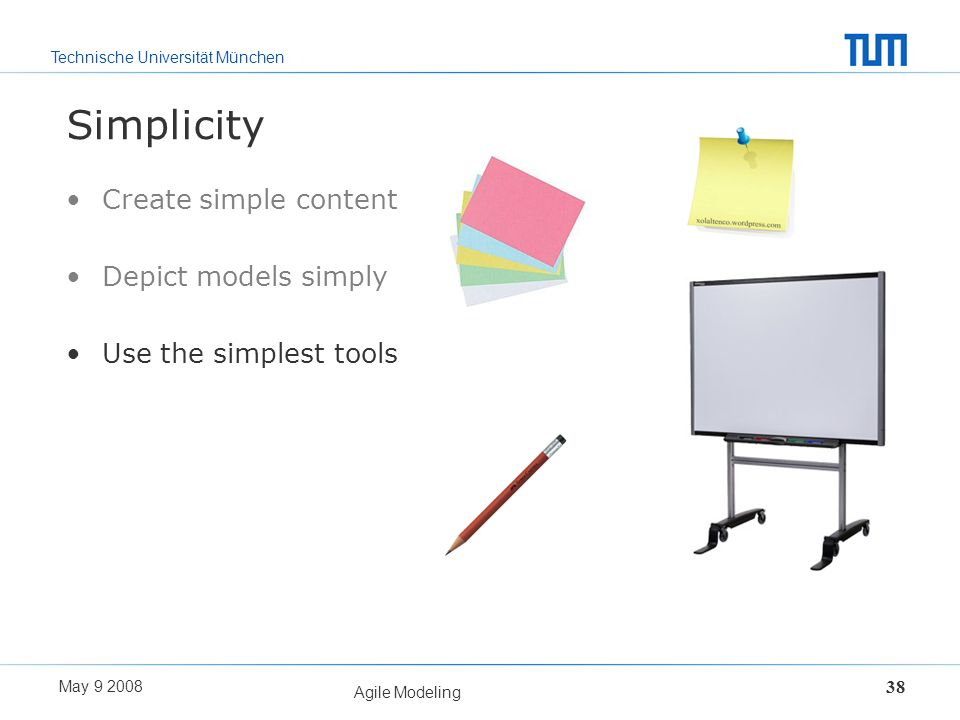 Simplicity Create simple content Depict models simply