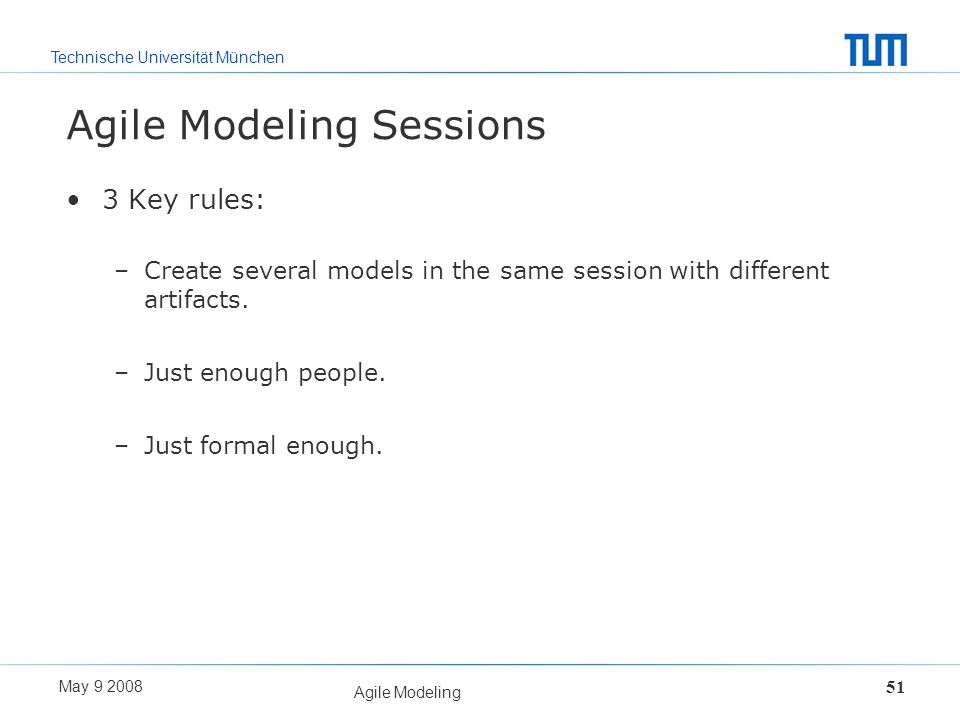 Agile Modeling Sessions