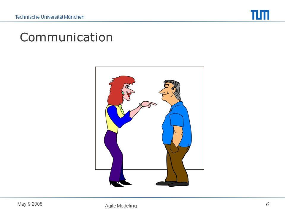 Communication Agile Modeling May 9 2008