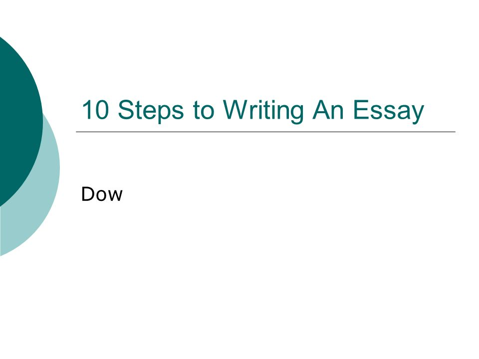 How to Write an Essay: 10 Easy Steps