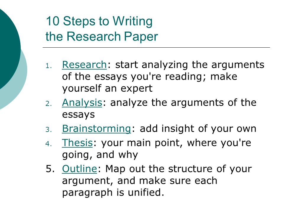 10 Steps to Writing An Essay - ppt download
