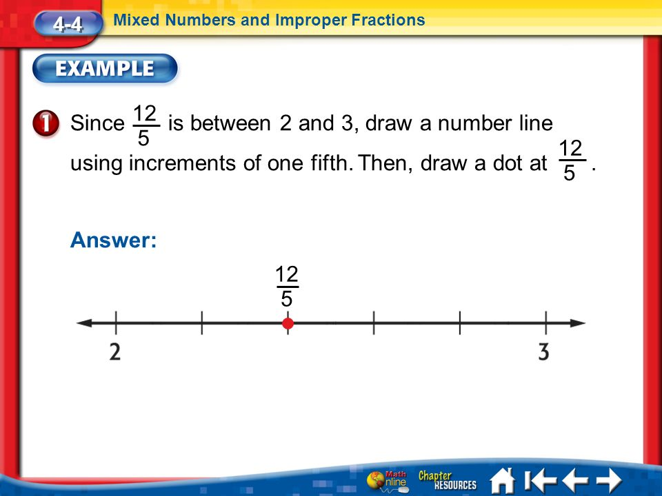 Drawing Number Lines With Fractions : Chapter fractions and decimals ppt download