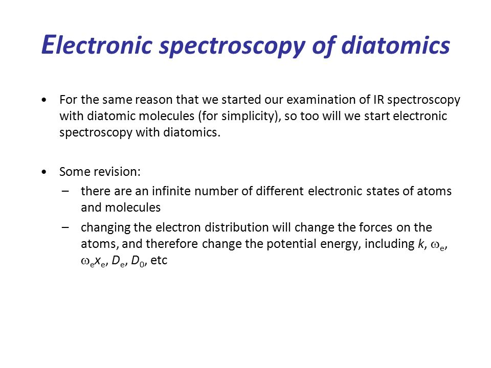 Chemistry 2 Lecture 11 Electronic spec of polyatomic molecules ...