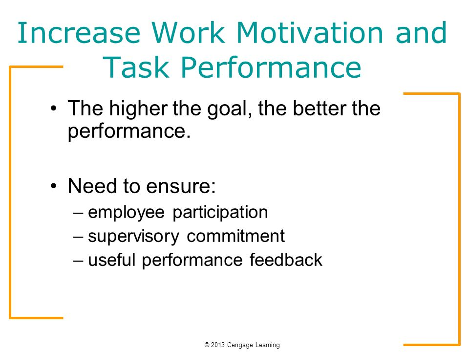 management by objective motivation and work performance The relationship between employee motivation and job performance  objective of this study is to investigate the  work performance in terms of quality.