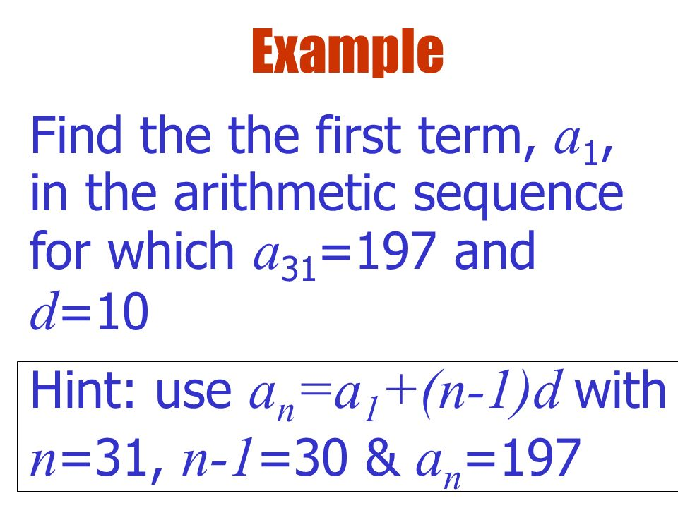 Arithmetic Sequences And Series  Ppt Video Online Download