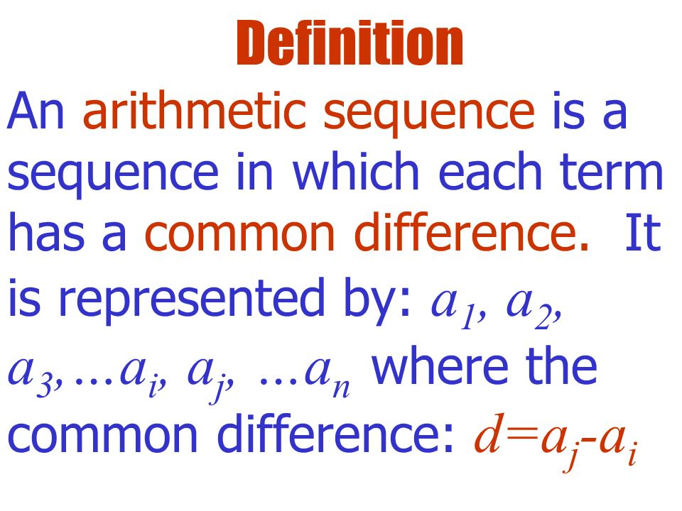 how to find the difference term for arithemetic series