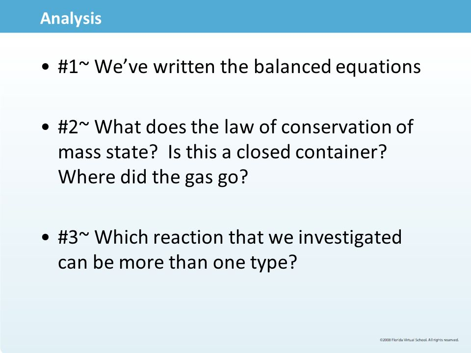 4 05 chemical reactions 1) combination reactions • is also referred to as a synthesis reaction • it is a chemical change in which two or more substances react to form a new.