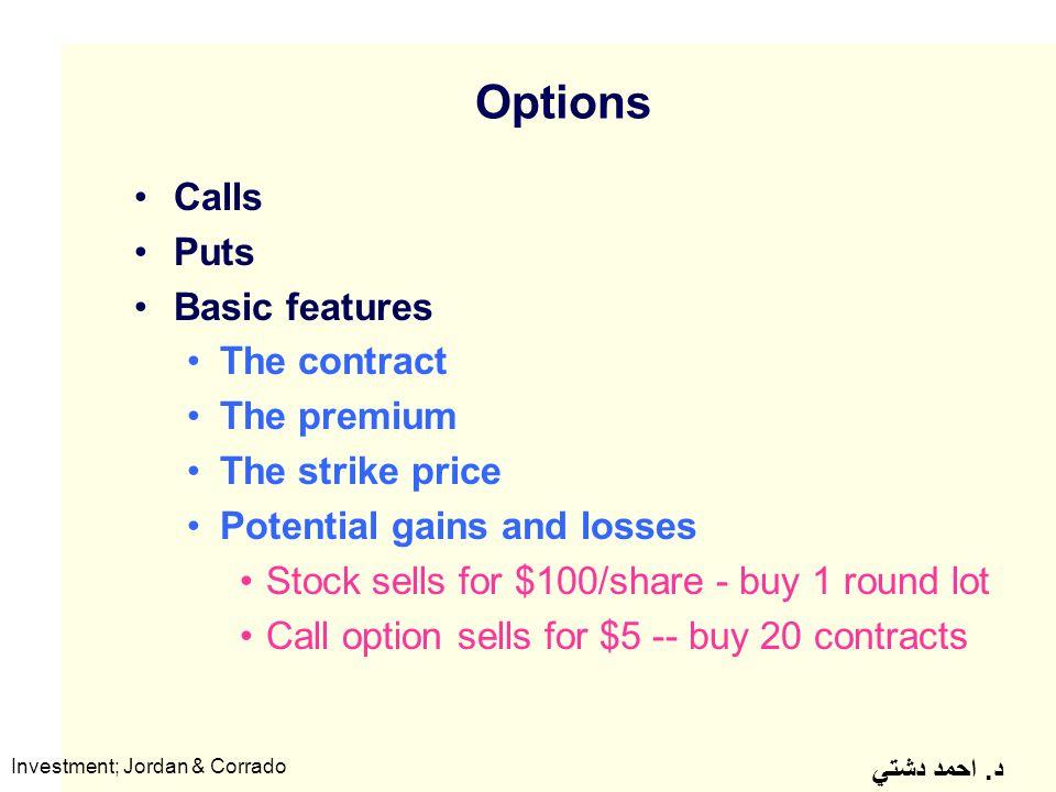 Premium priced stock options