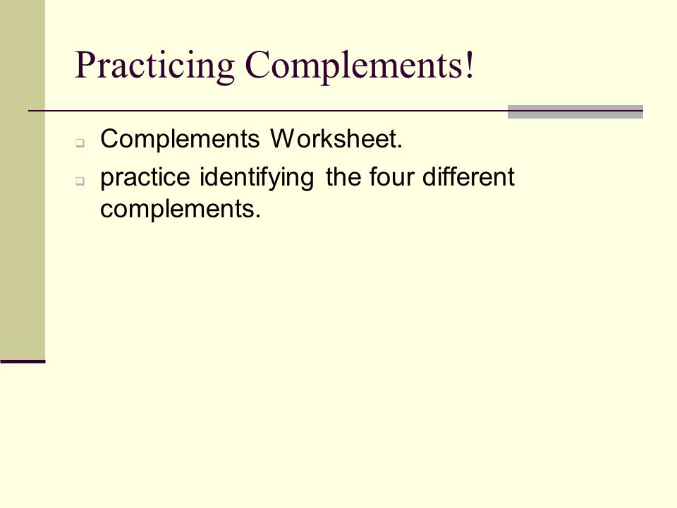 subject complement worksheets Termolak – Subject Complement Worksheet