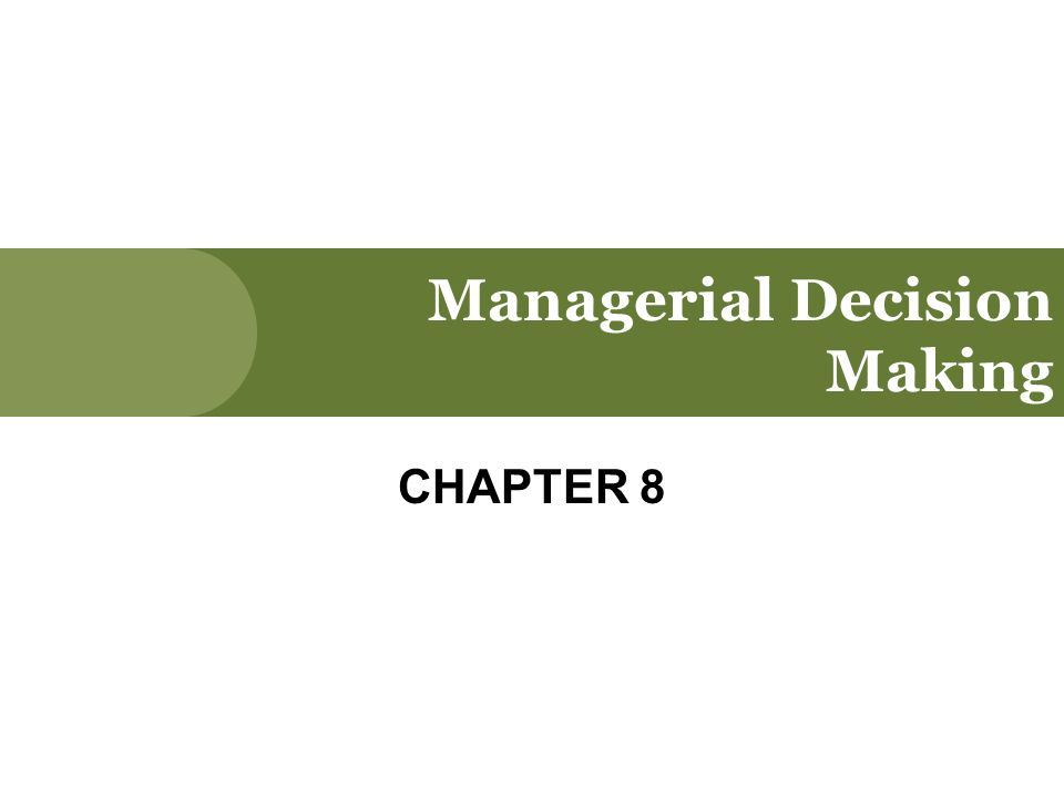 decision making is an important component of good management Read this article to learn about the characteristics, nature, basis, types and conditions of decision making decision-making is an important job of a manager every day he has to decide about doing or not doing a particular thing a decision is the selection from among alternatives it is a.