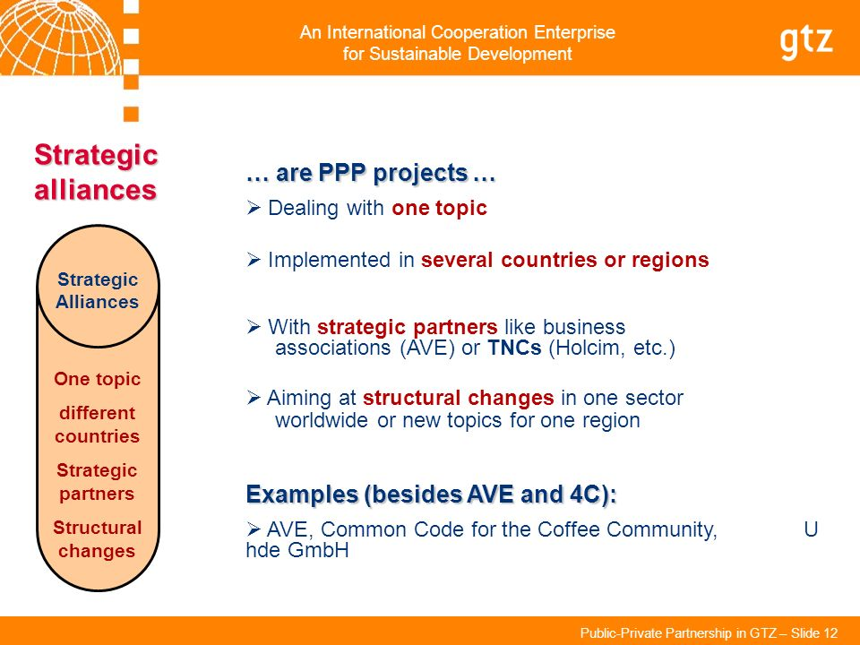 Strategic alliances … are PPP projects …