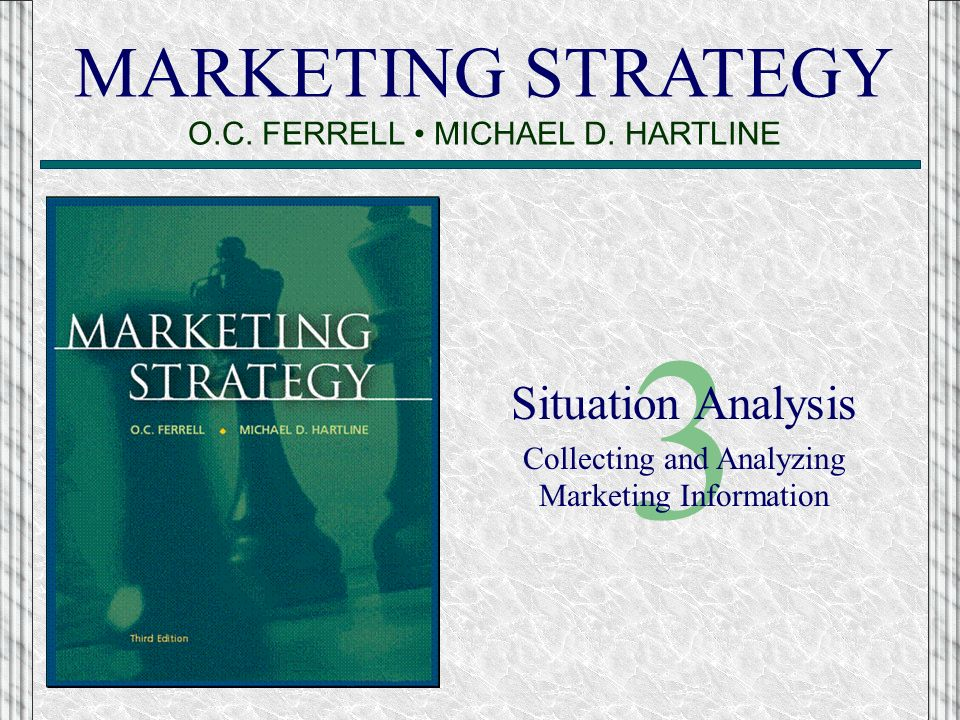 marketing strategy situation assessment Situation analysis refers to a collection of methods that managers use to an analysis on the marketing strategy and the marketing mix assessment of.