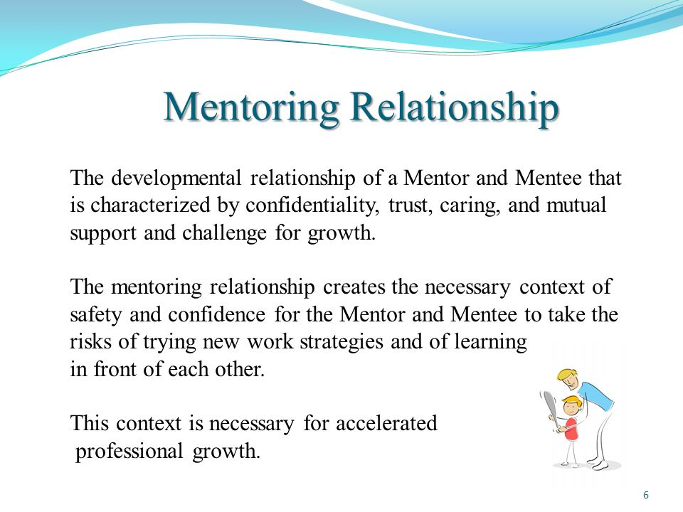 mentor and mentee relationship standards