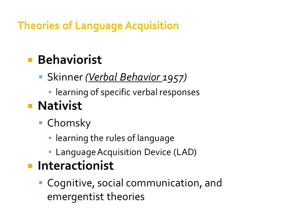 attempts to explain language developmen Objectives _____ • describe developmental milestones across multiple domains (cognition, motor, social–  assimilation refers to the child's attempts to incorporate new stimuli into existing cognitive schemas (structures) for example, suppose a child is familiar with dogs because there is a  precedes language development, and many.